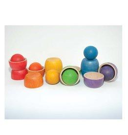 Grapat Bols et balles en bois colorés