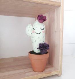 Pink Clémentine Cactus en feutrine - Prune et violet endormi