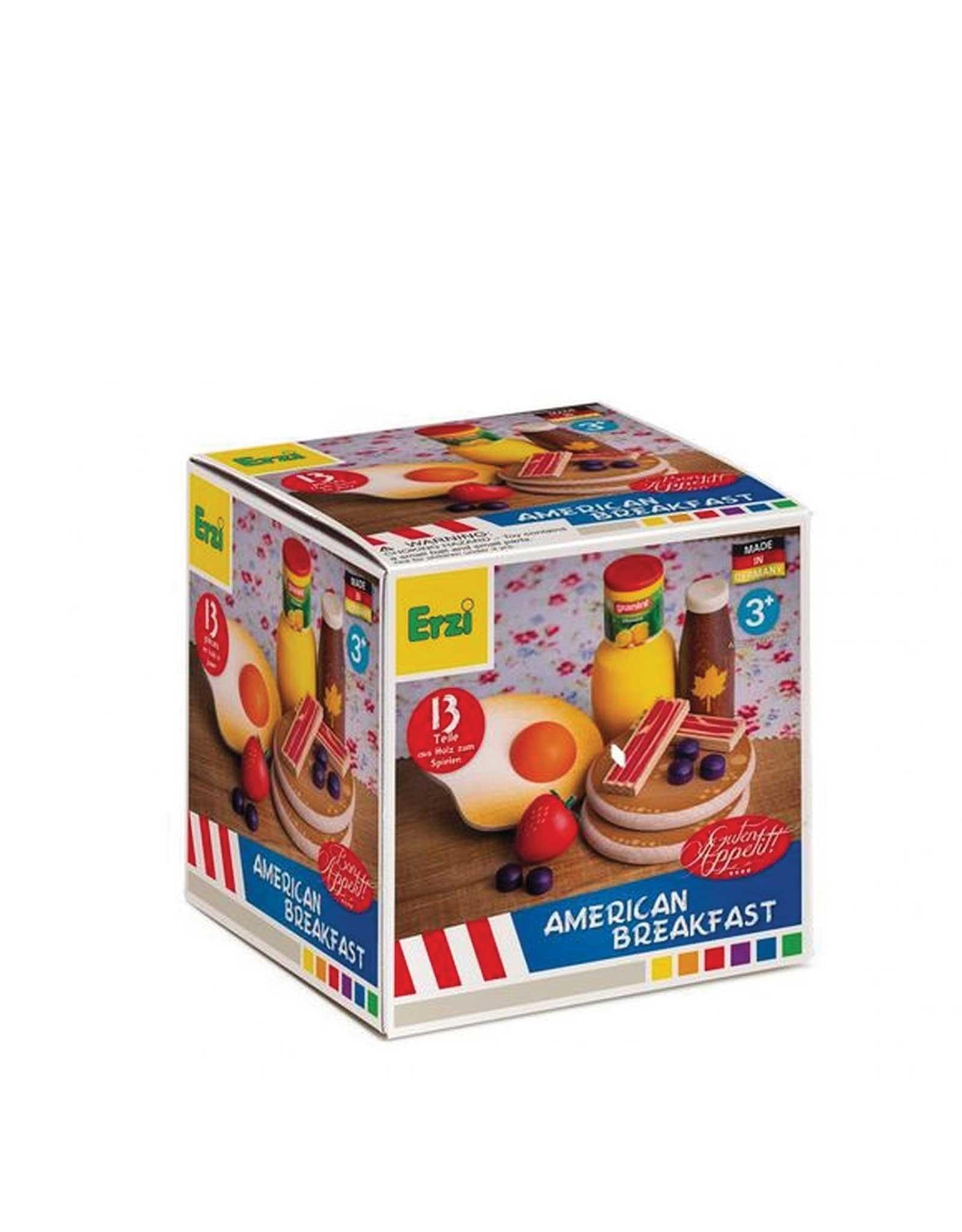 Erzi Boîte d'assortiment en bois - Petit déjeuner américain
