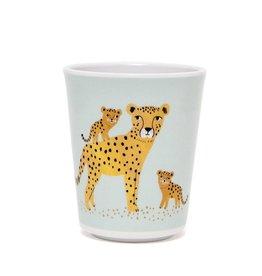 Petit Monkey Verre en mélamine - Leopard