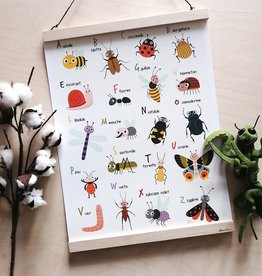 Julie Cossette Illustrations Illustration - ABC Of Insects FRENCH - 12 x 16