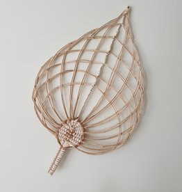 Coconeh Wicker Wall Leaf - Natural