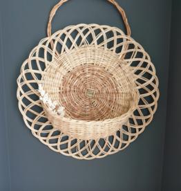 Coconeh Wicker Flower Wall Basket - Small