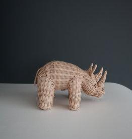 Coconeh Tire-lire rhinocéros en osier