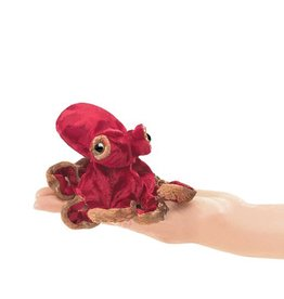 Folkmanis Finger Puppet - Mini Red Octopus