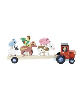 Vilac Stacking Truck & Trailer With Animals