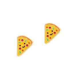 Girl Nation Enamel Studs Earrings - Pizza