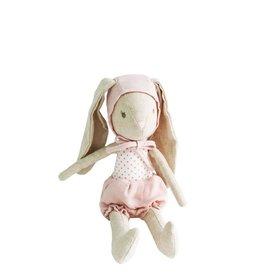Alimrose Poupée en lin - Bébé lapin fille avec bonnet