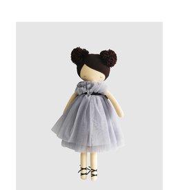 Alimrose Poupée en lin - Ruby pompons robe lavande
