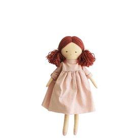 Alimrose Poupée en lin - Matilda robe rose