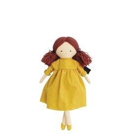 Alimrose Poupée en lin - Matilda robe caramel écossais