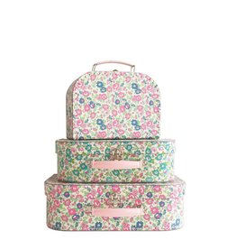 Alimrose Kids Carry Case Set Petit Floral Teal Pink