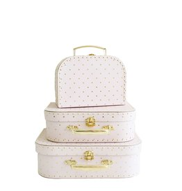 Alimrose Ensemble de valises pour enfant - Rose or