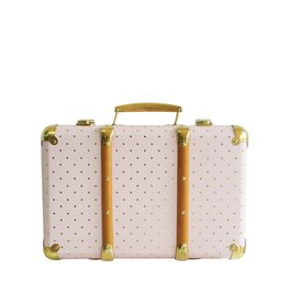 Alimrose Mini Vintage Brief Case Pink Gold Spot