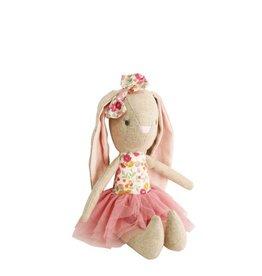 Alimrose Poupée en lin - Bébé Pearl la lapine