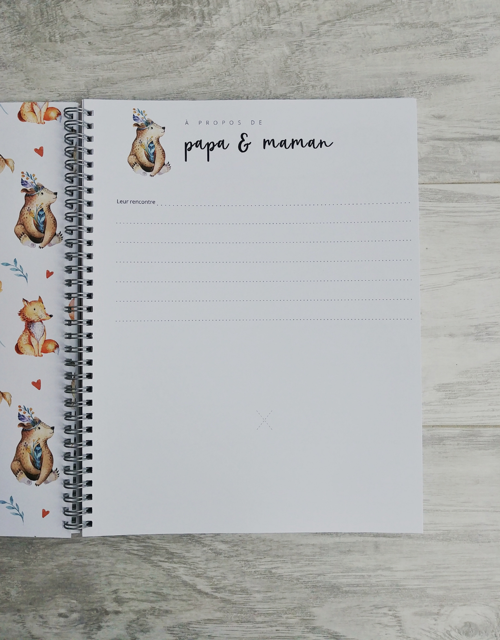 Moments ancrés Mon journal de bébé - Animaux de la forêt