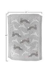 creativeco-op Couverture pour bébé en tricot de coton - Lapin taupe