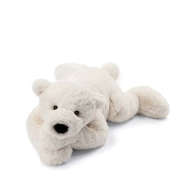 Jelly Cat Peluche - Perry l'ours polaire couché - Grand