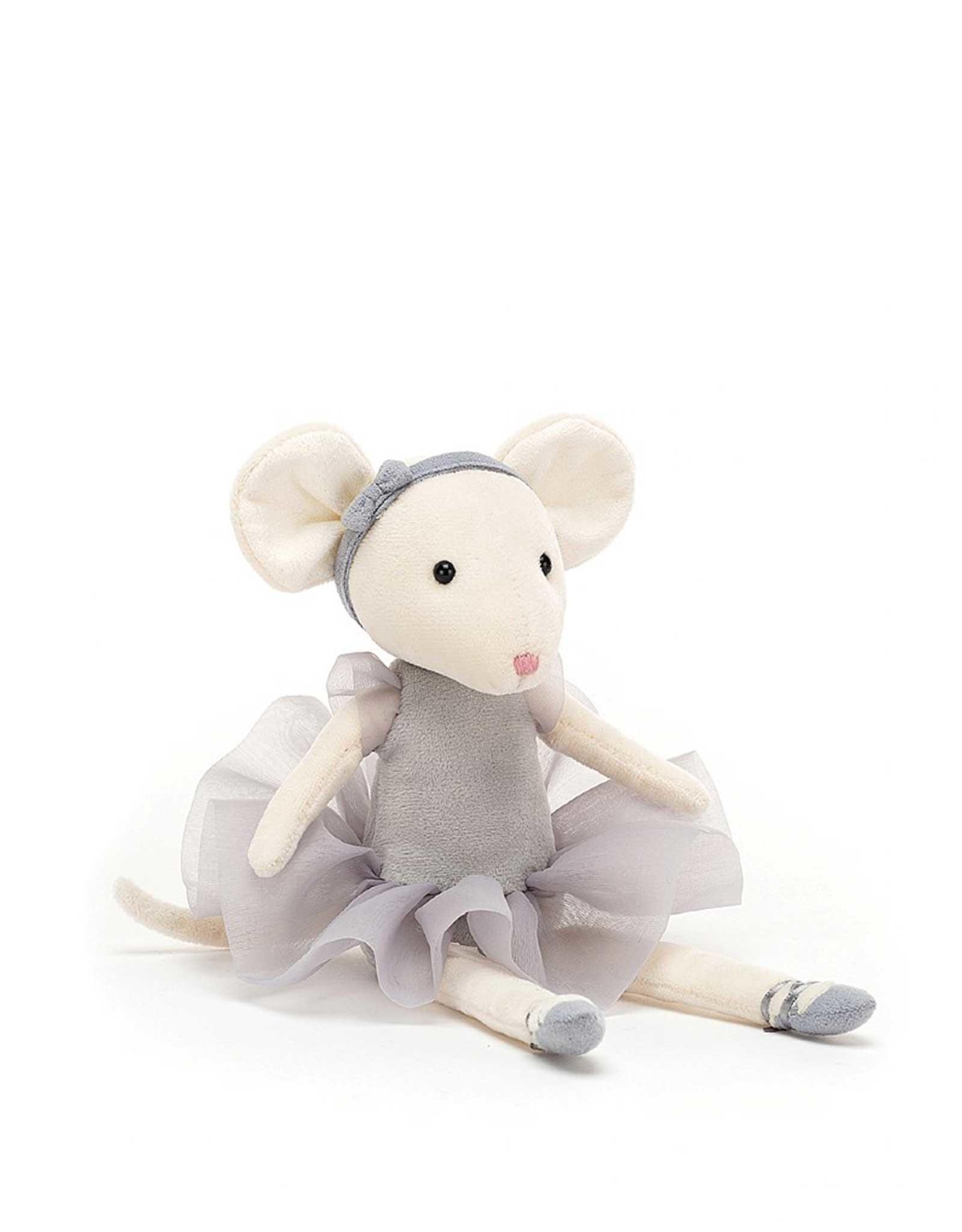 Jelly Cat Peluche - Pirouette la souris grise galet