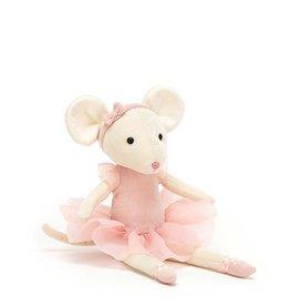 Jelly Cat Peluche - Pirouette la souris rose bonbon