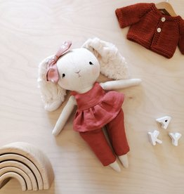Mes petites lunes Doll-Plush - Rabbit with skirt and pink pants
