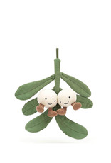 Jelly Cat Peluche - Branche de gui blanc amusante