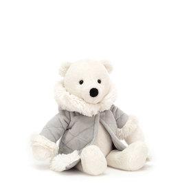 Jelly Cat Peluche - Ours polaire et son manteau d'hiver