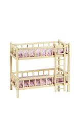 Goki Lits superposés en bois pour poupées avec échelle