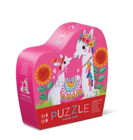 Crocodile Creek Mini Puzzle - 12pieces - Llama Love 3+