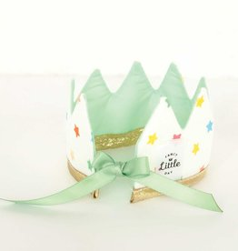 Fancy Little Day Mini Crown For Dolls Multicolored Stars Mint Green