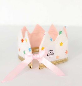 Fancy Little Day Mini Crown For Doll With Pale Pink and Multicolored Stars