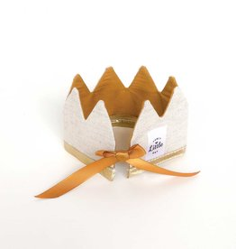 Fancy Little Day Mini Crown For Doll Natural And Mustard