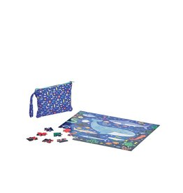 Petit Collage Puzzle - Double Sided On-The-Go Under The Sea 4+
