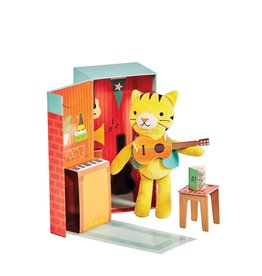 Petit Collage Animal Play Set - Theodore The Tiger