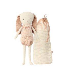Maileg Poupée lapin rose et son sac en tissu