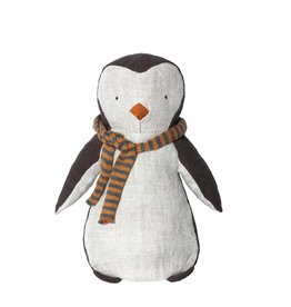 Maileg Pingouin et son foulard orange et gris