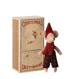 Maileg Grand frère souris de Noël dans sa boîte d'allumettes