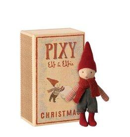 Maileg Pixy elf garçon dans une boîte d'allumettes