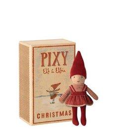 Maileg Pixy elf fille dans une boîte d'allumettes