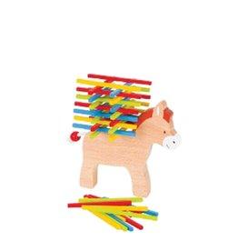 Goki Jouet en bois - Équilibre sur un âne