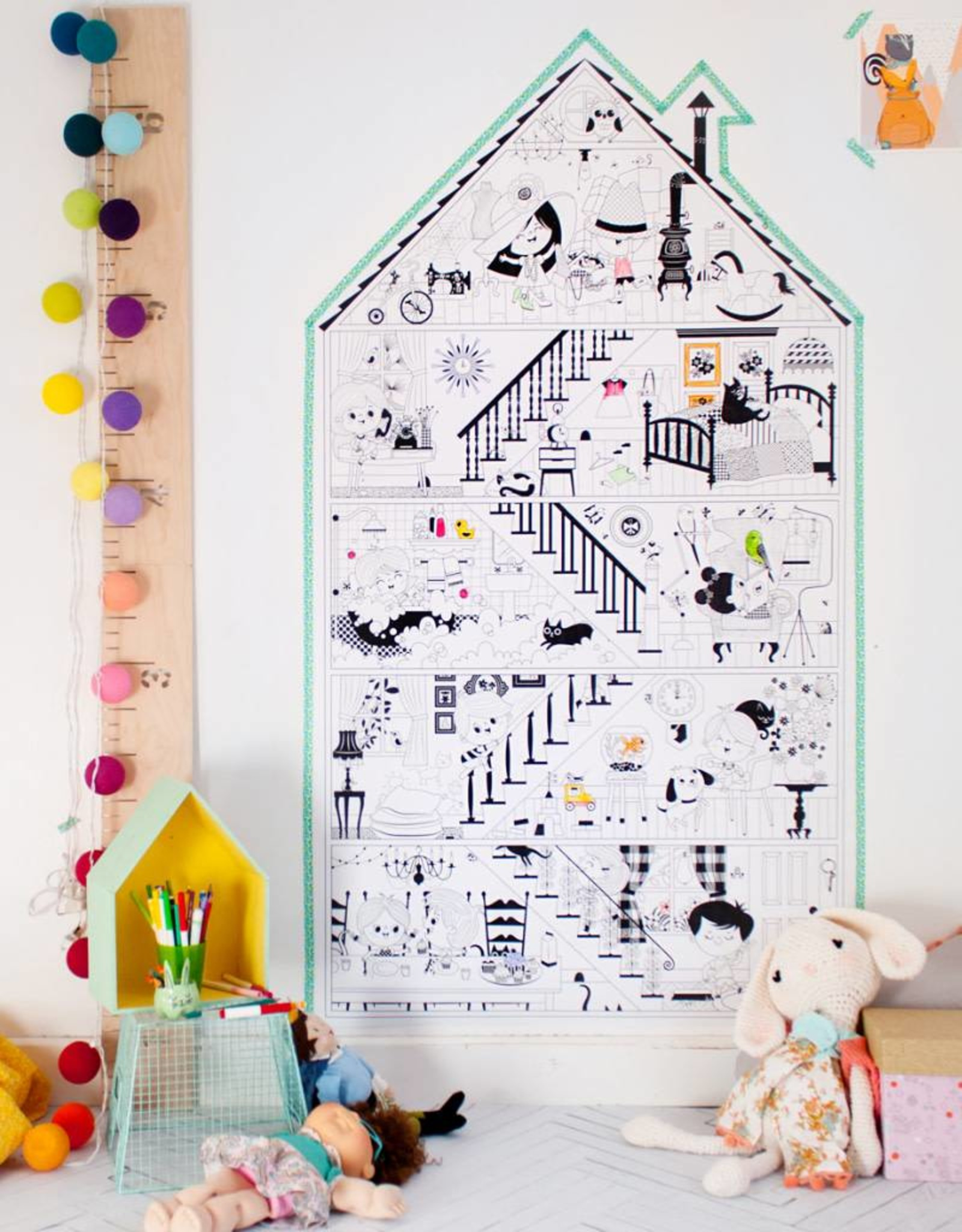Atelier Rue Tabaga My Little House - Giant coloring