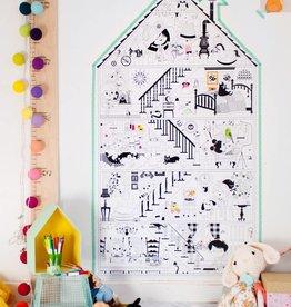 Atelier Rue Tabaga La Petite Maison - Coloriage géant
