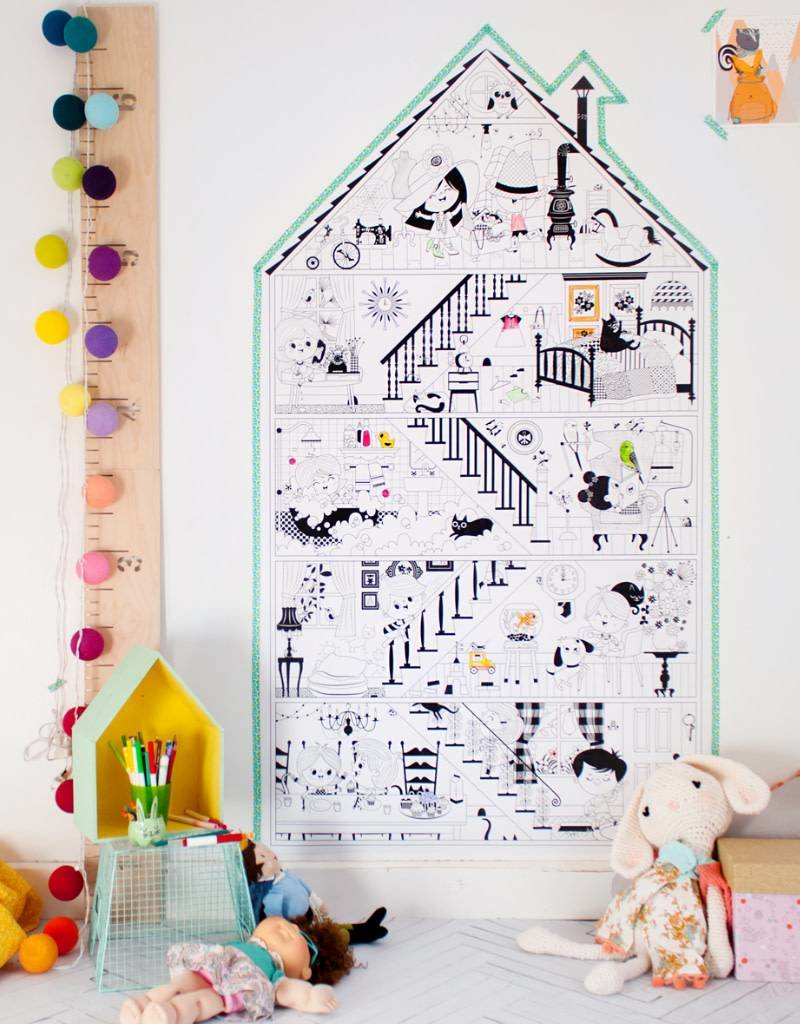 Atelier Rue Tabage My Little House - Giant coloring