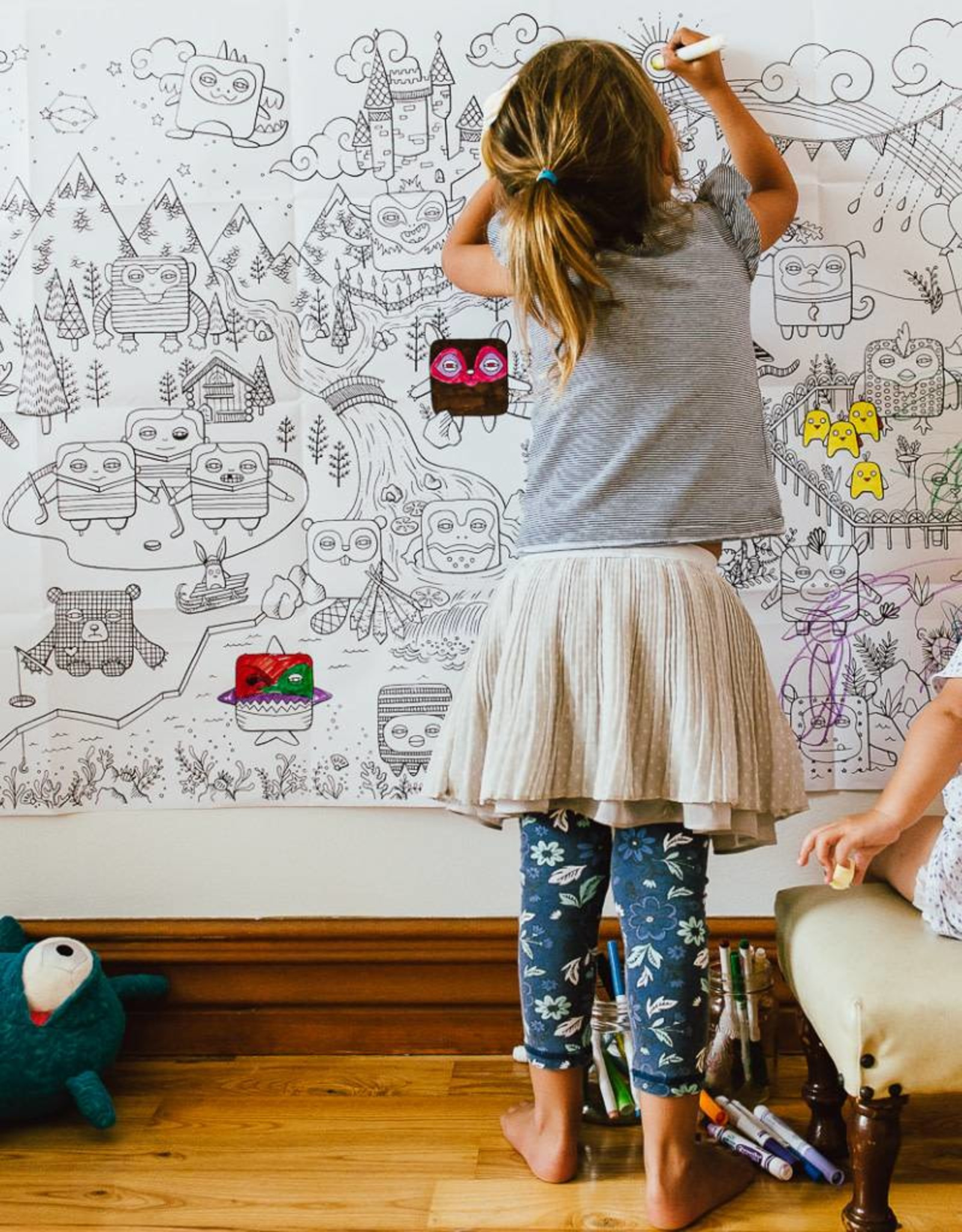 Atelier Rue Tabaga Le monde de Velvet - Coloriage géant