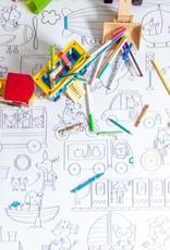 Atelier Rue Tabage Moyens de transport - Coloriage géant