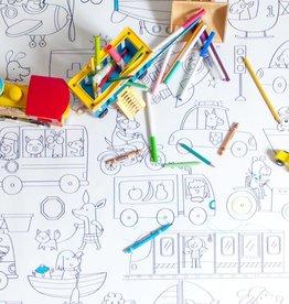 Atelier Rue Tabaga Moyens de transport - Coloriage géant