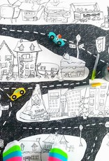 Atelier Rue Tabaga City map - Giant coloring
