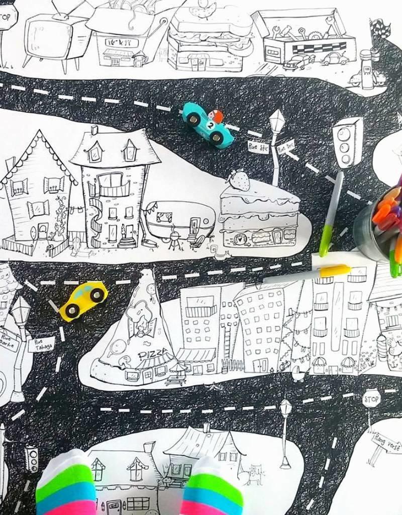 Atelier Rue Tabage La ville - Coloriage géant