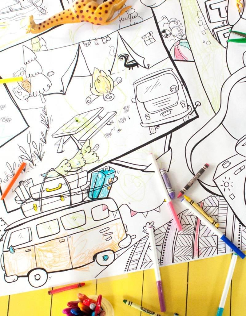 Atelier Rue Tabaga Kumbaya - Coloriage géant