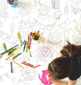 Atelier Rue Tabage Cirque - Coloriage géant